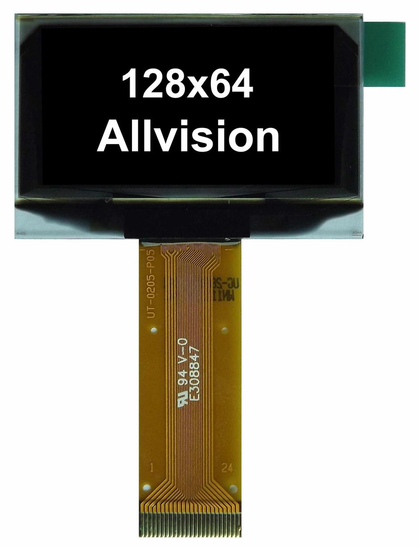 单色OLED显示屏1.54'' 128 * 64