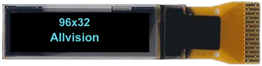 Monochrome OLED Display 0.86'' 96*32