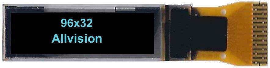 """单色OLED显示0.86""""'96 * 32"""