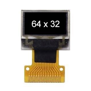 单色OLED显示屏0.49'' 64 * 32
